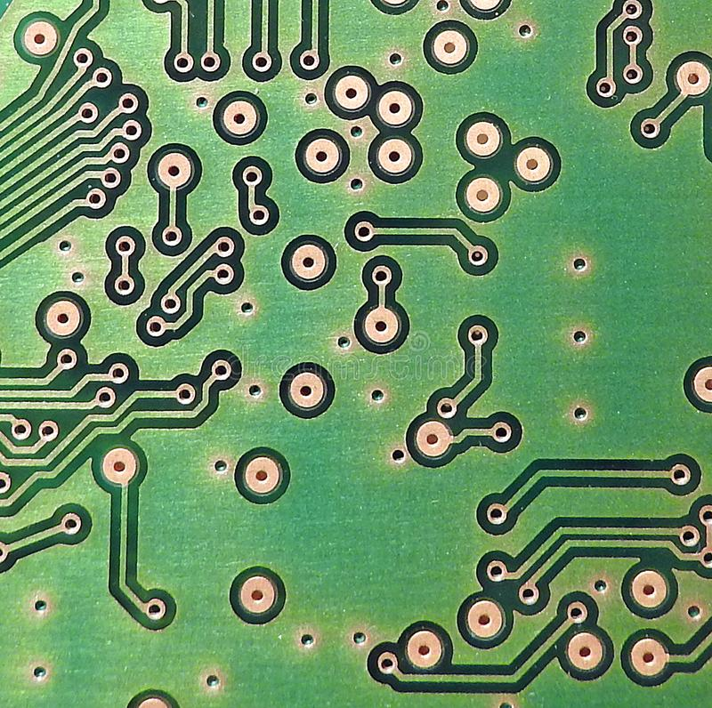 Comms switchboard pcb printed circuit board electronic points circuitry stock photography