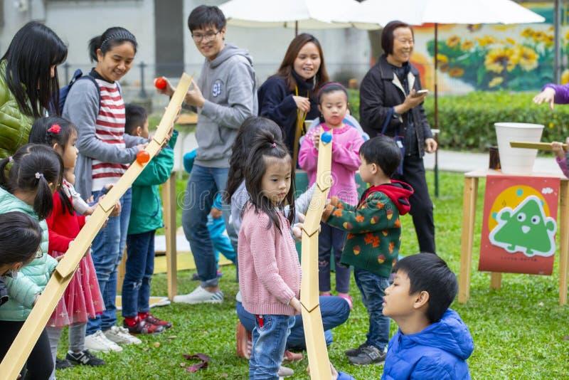 Communautair Activiteitencentrum, Limin-Recreatie, de Nieuwe Taipeh Stad van Taiwan, het Levensfestival stock afbeeldingen