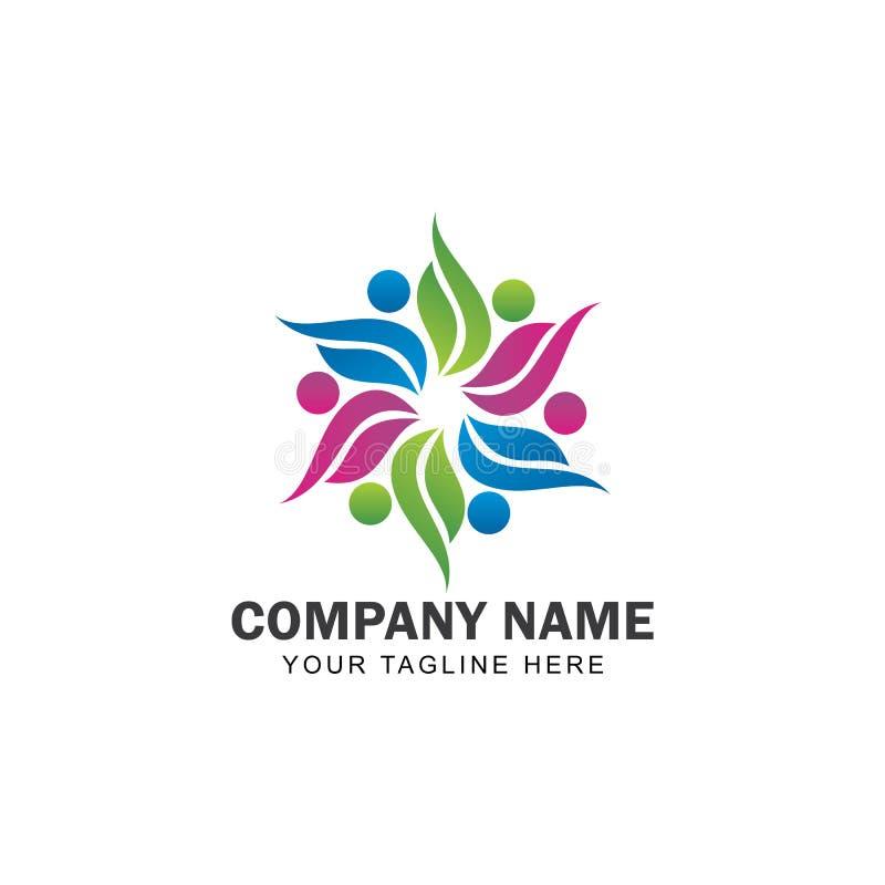 Communautair Logo Design Vector vector illustratie