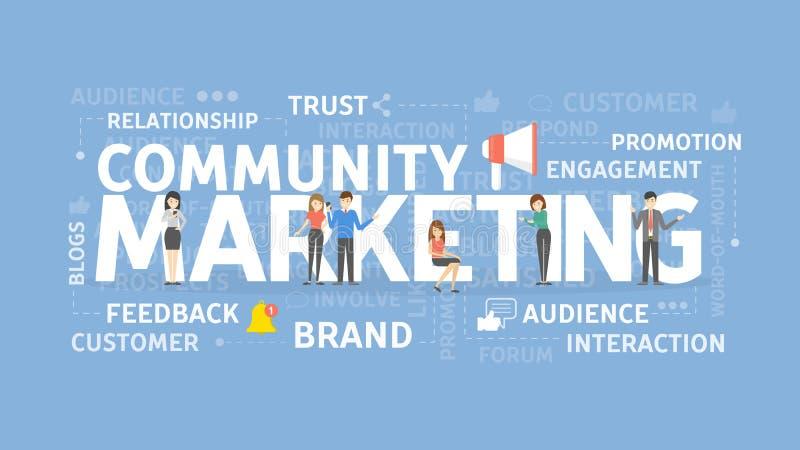 Communautair marketing concept stock illustratie