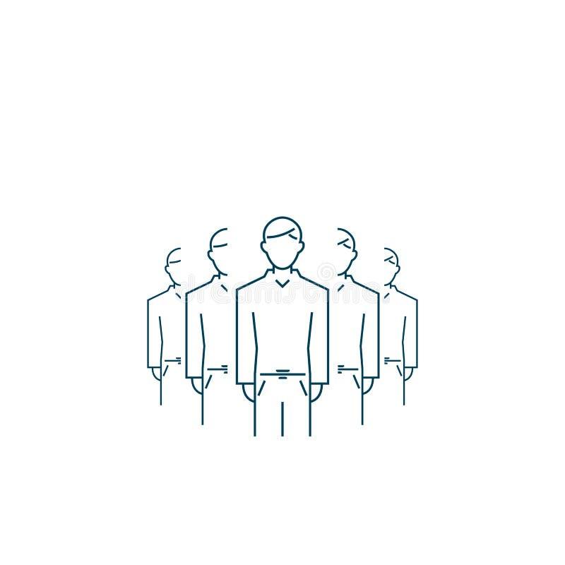 Communautair pictogram groepsmensen die op wit worden geïsoleerd het vectorsymbool van het overzichts vlakke Web royalty-vrije illustratie