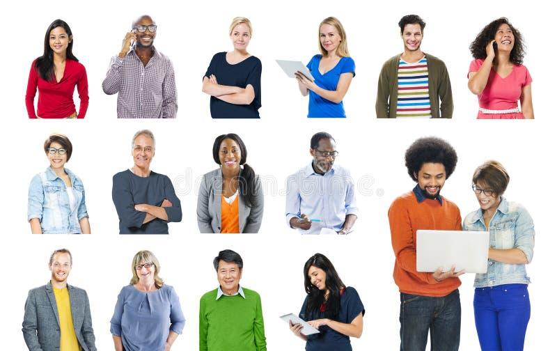 Communautair van de Communicatie de Inhoudsconcept Voorzien van een netwerktechnologie royalty-vrije stock afbeeldingen