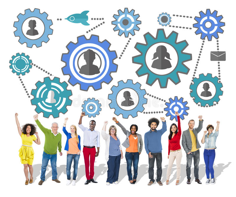 Communautaire Zaken Team Partnership Collaboration Support Concep royalty-vrije stock foto