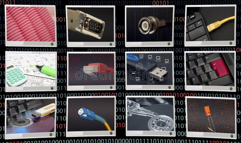 Communicacions nel fondo nero fotografia stock libera da diritti