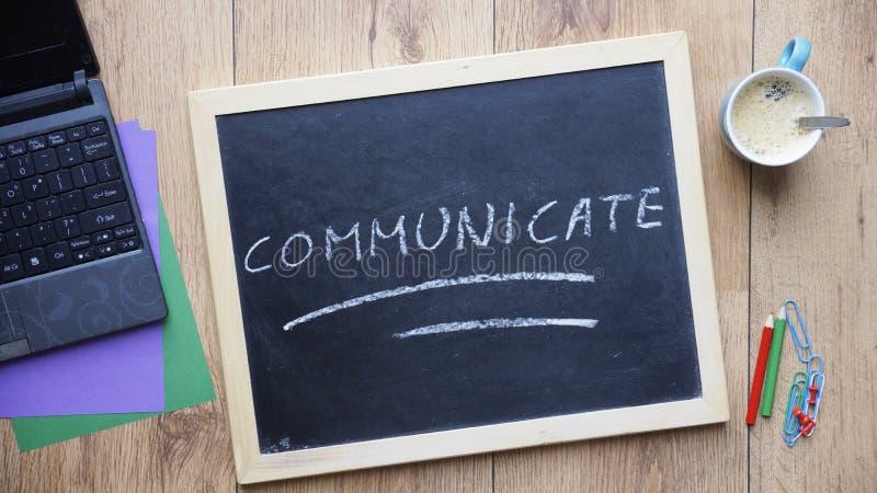 Communicate geschrieben stockfoto