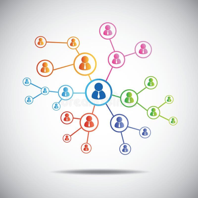 Communicatie concept aansluting stock illustratie