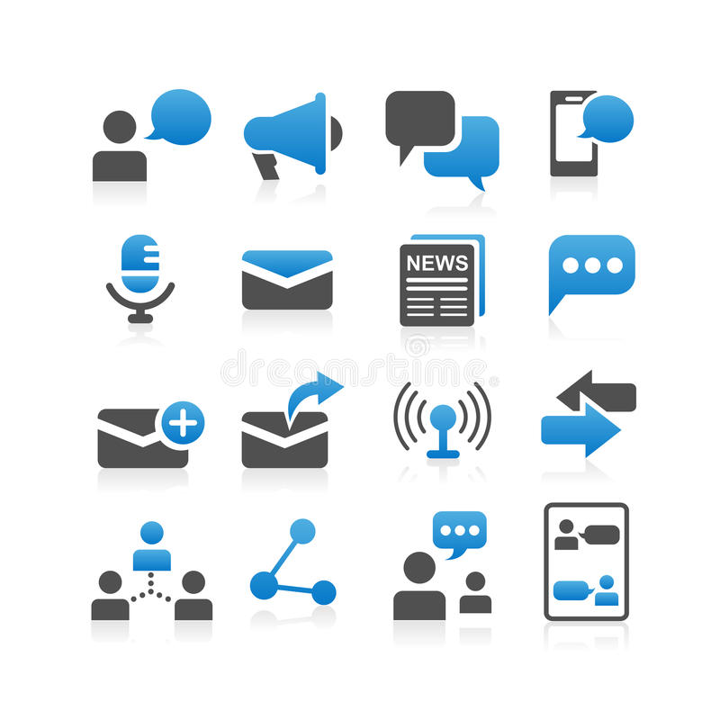 Communicatie conceptenpictogram stock illustratie