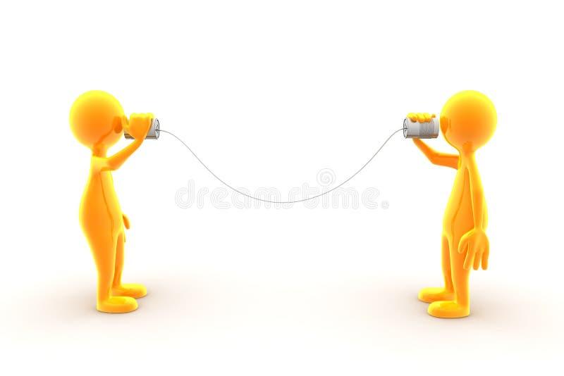 Communicatie fout stock illustratie