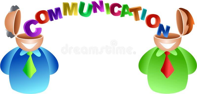Communicatie hersenen stock illustratie