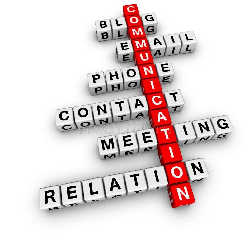 Communicatie kruiswoordraadsel stock illustratie