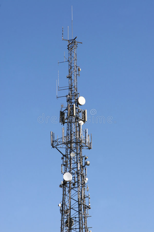 Communicatie Mast royalty-vrije stock afbeelding