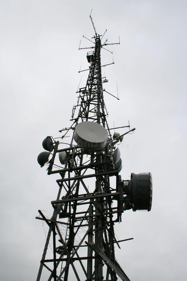 Communicatie mast stock fotografie