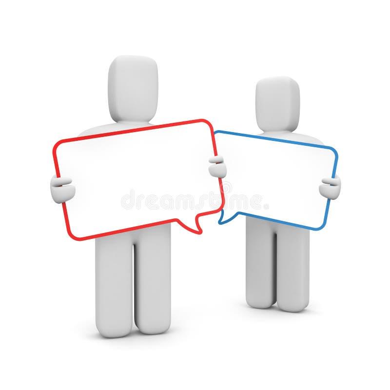 Communicatie metafoor vector illustratie