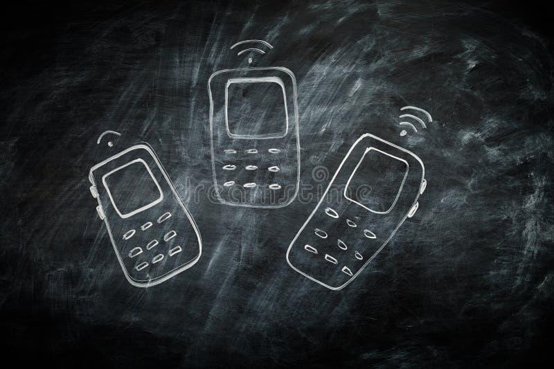 Communicatie Mobiele telefoons royalty-vrije stock foto