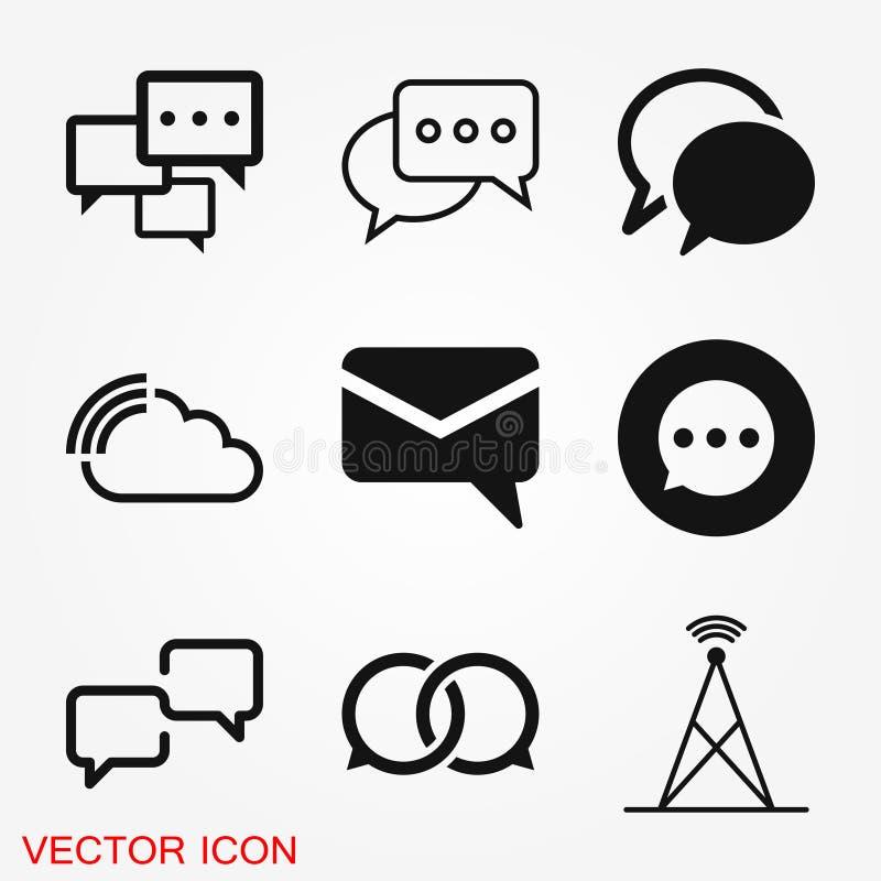 Communicatie pictogram De vector van het de Inzamelingspictogram van het datacommunicatiepictogram royalty-vrije stock foto