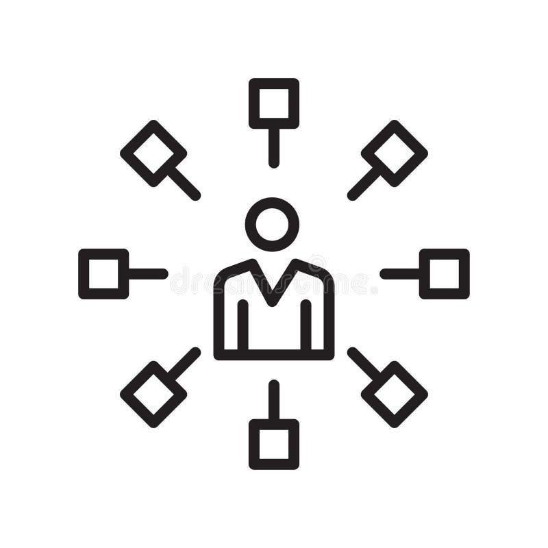 Communicatie pictogram vectordieteken en symbool op witte rug wordt geïsoleerd stock illustratie