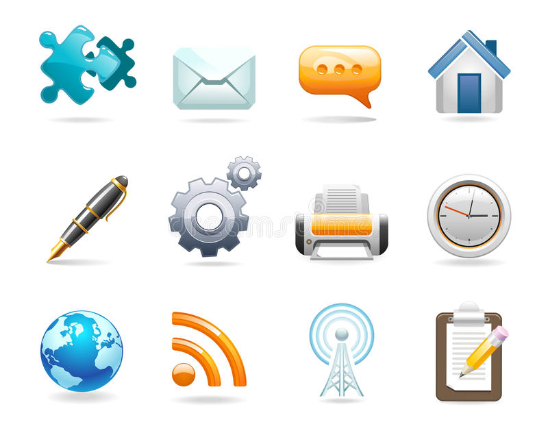 Communicatie pictogrammen stock illustratie
