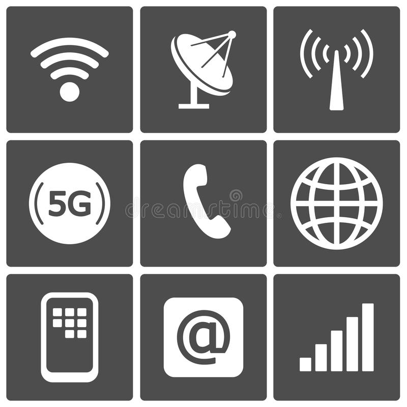 Communicatie pictogrammen royalty-vrije illustratie