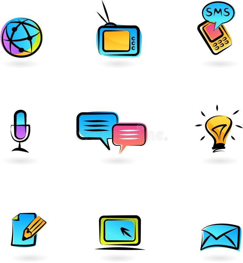 Communicatie pictogrammen 3 stock illustratie