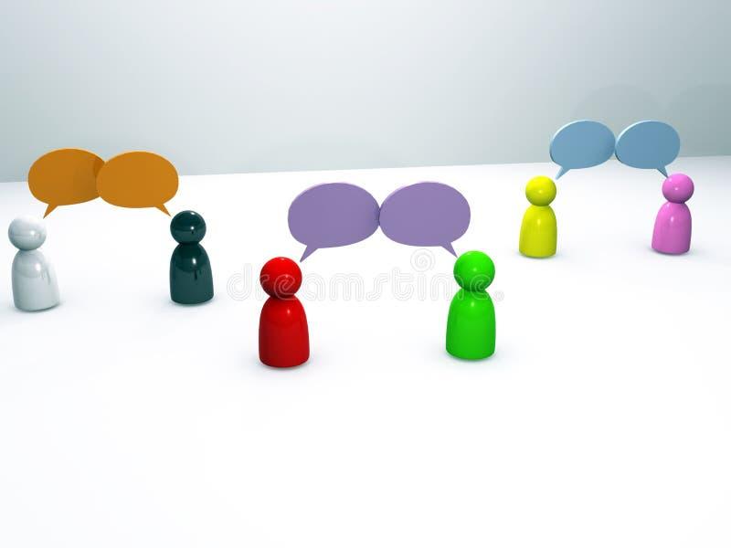 Communicatie Praatje stock fotografie
