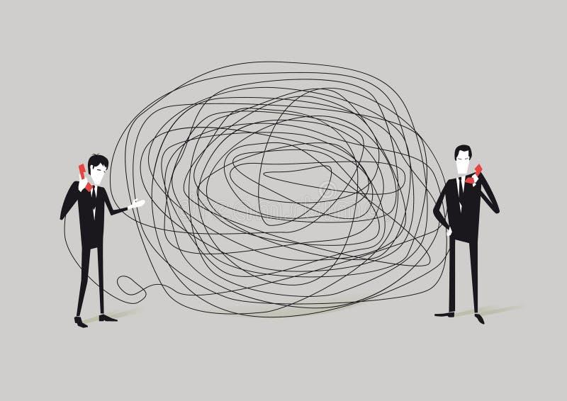 Communicatie Probleem royalty-vrije illustratie