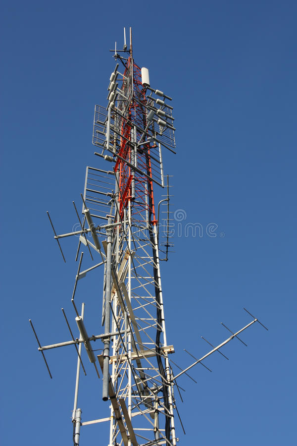 Communicatie toren royalty-vrije stock afbeelding