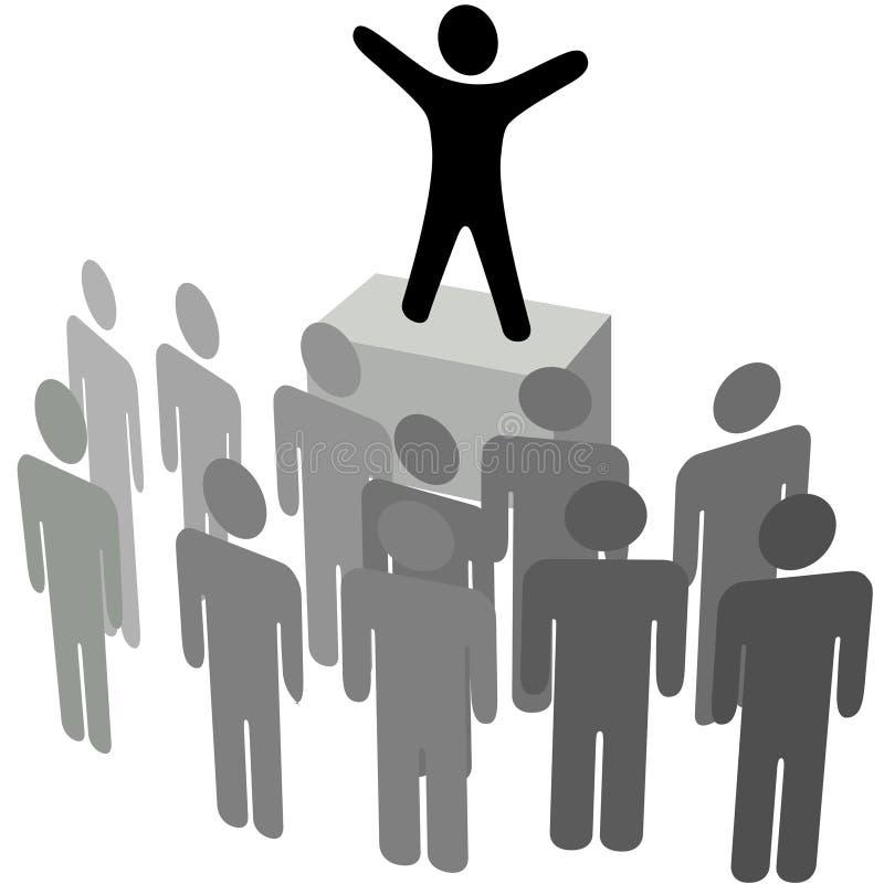 Communicatie van de aankondiging Toespraak aan de Menigte van Mensen stock illustratie