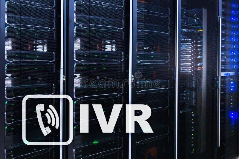 Communicatie van de de stemreactie van IVR Interactief concept royalty-vrije stock afbeeldingen