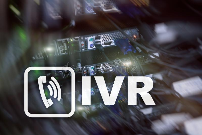 Communicatie van de de stemreactie van IVR Interactief concept stock foto