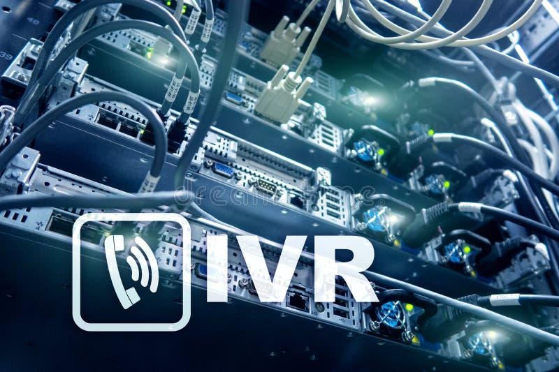 Communicatie van de de stemreactie van IVR Interactief concept royalty-vrije stock foto