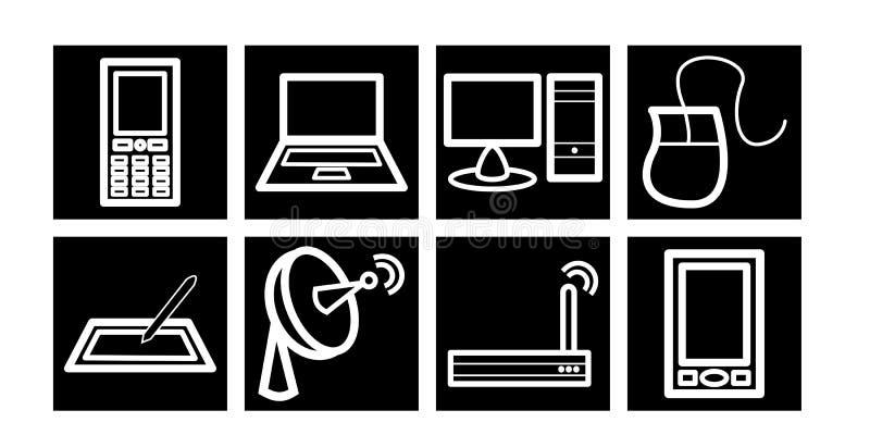 Communicatie/van de Technologie Pictogrammen stock afbeelding