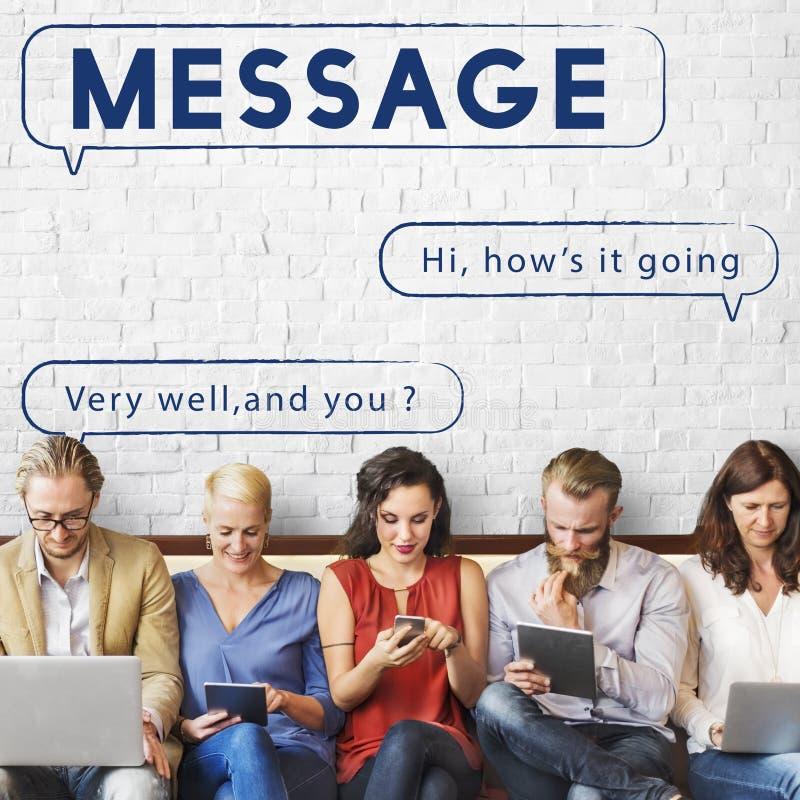 Communicatie van het de Postpraatje van de berichttekst Concept stock fotografie