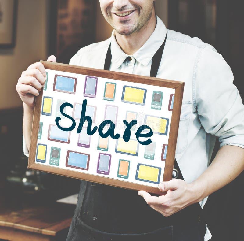 Communicatie van het praatje Sociaal Netwerk Aandeelconcept royalty-vrije stock foto