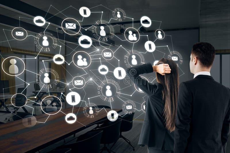 Communicatie, van u en van het groepswerk concept stock afbeelding