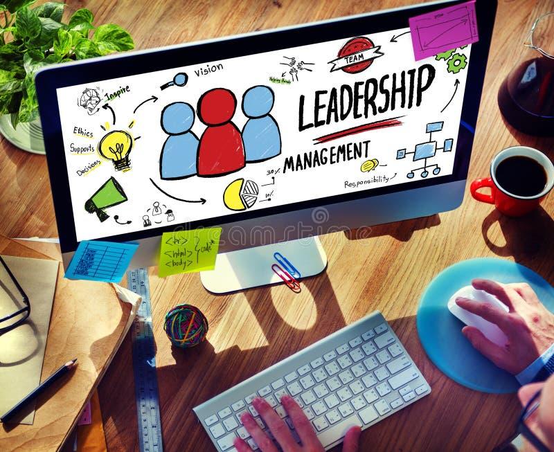 Communicatie van zakenmanleadership management digital Concept royalty-vrije stock foto