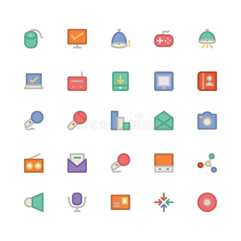 Communicatie Vectorpictogrammen 12 royalty-vrije illustratie
