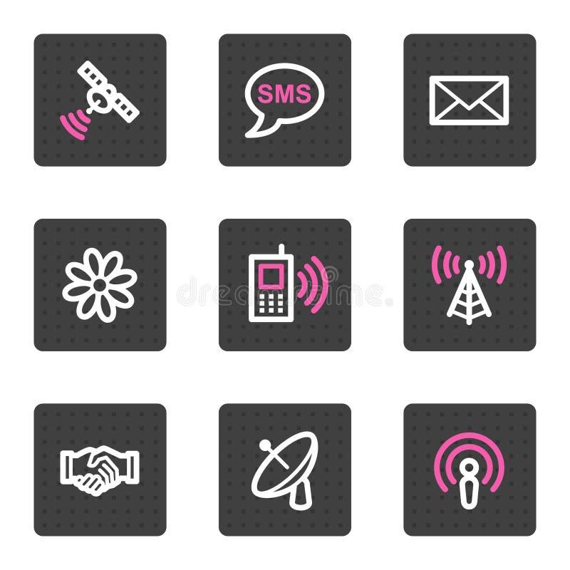 Communicatie Webpictogrammen stock illustratie