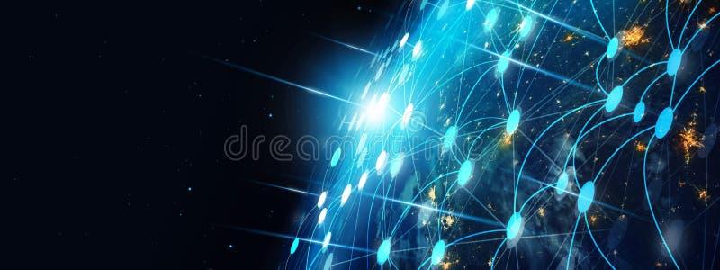 Communicatietechnologie en Internet wereldwijd voor bedrijfsconcept stock fotografie
