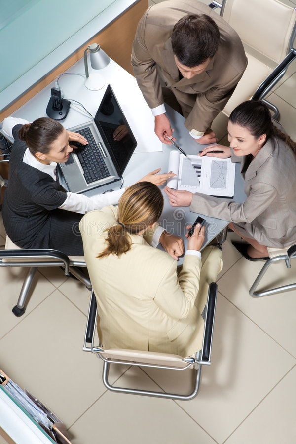 Download Communicating stock image. Image of document, confident - 6506659