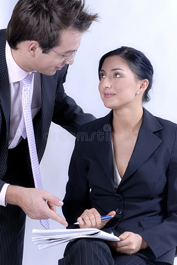 Download Communicating business stock photo. Image of notes, businesswoman - 1634458