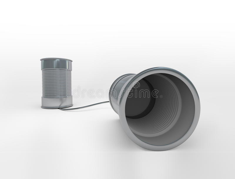 Download Communicating cans stock illustration. Illustration of phone - 28718488
