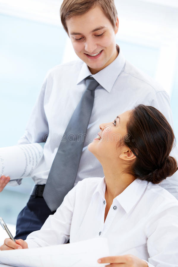 Download Communicating partners stock photo. Image of confident - 17451302