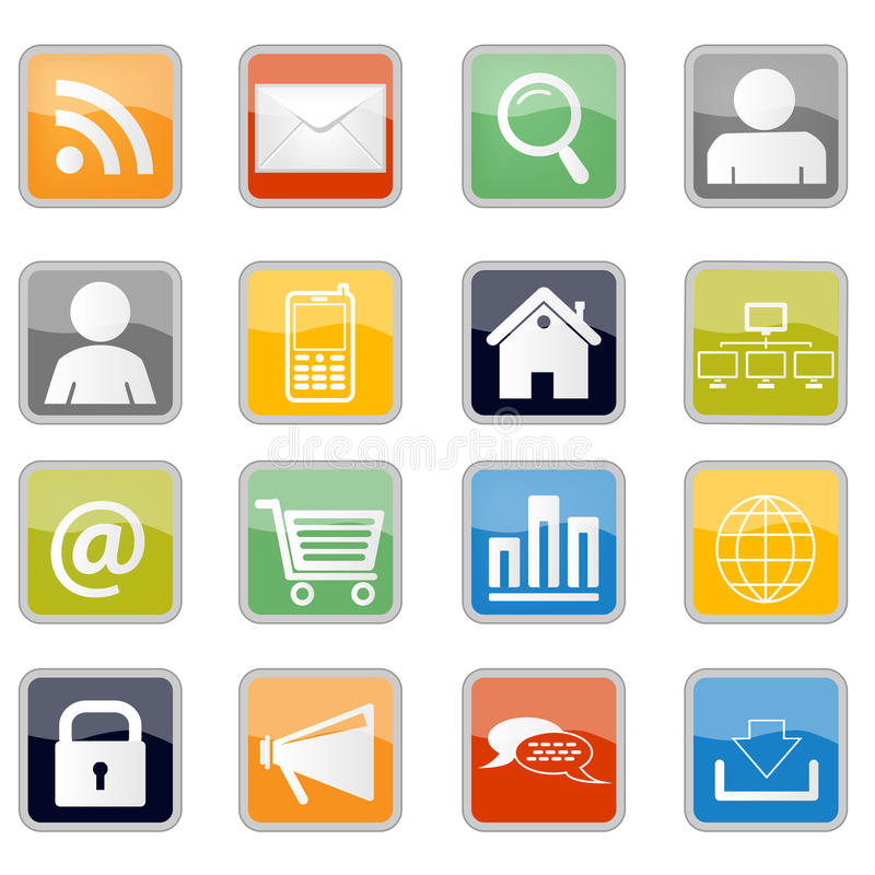 Free Communication And Web Icons Stock Photo - 25451710