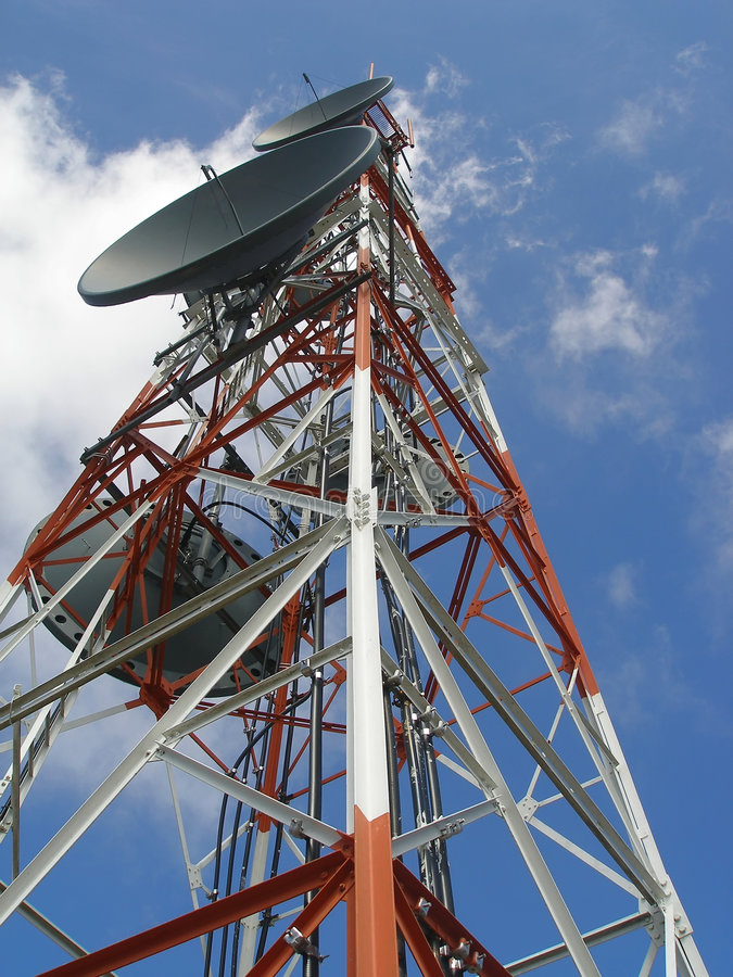Communication Antenna stock image