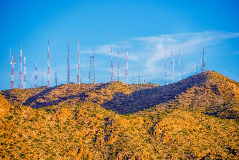 Communication Antennas stock images