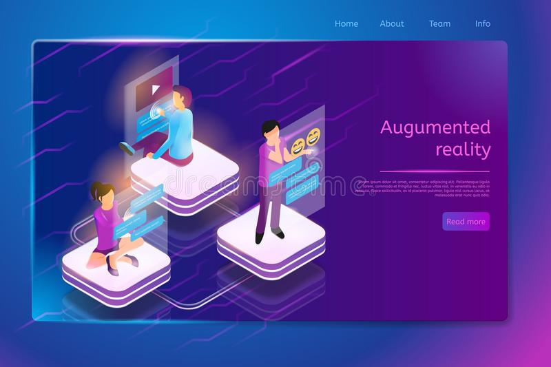 Communication with Augmented Reality Web Banner royalty free illustration