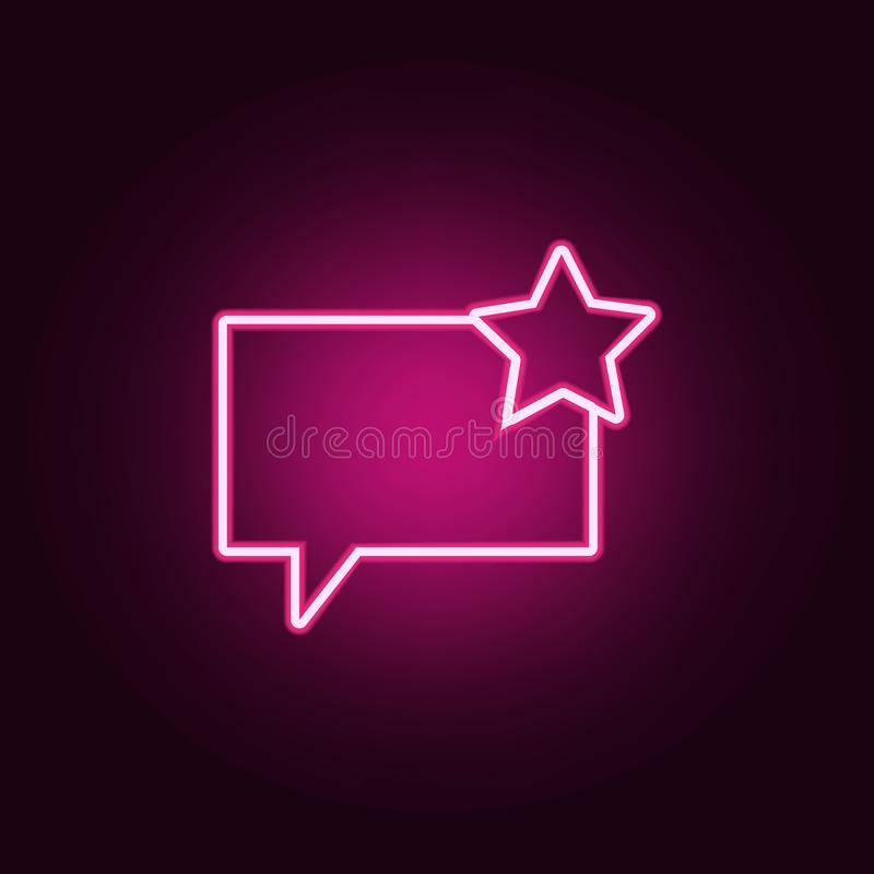 communication bubbles with an asterisk icon. Elements of Web in neon style icons. Simple icon for websites, web design, mobile app vector illustration