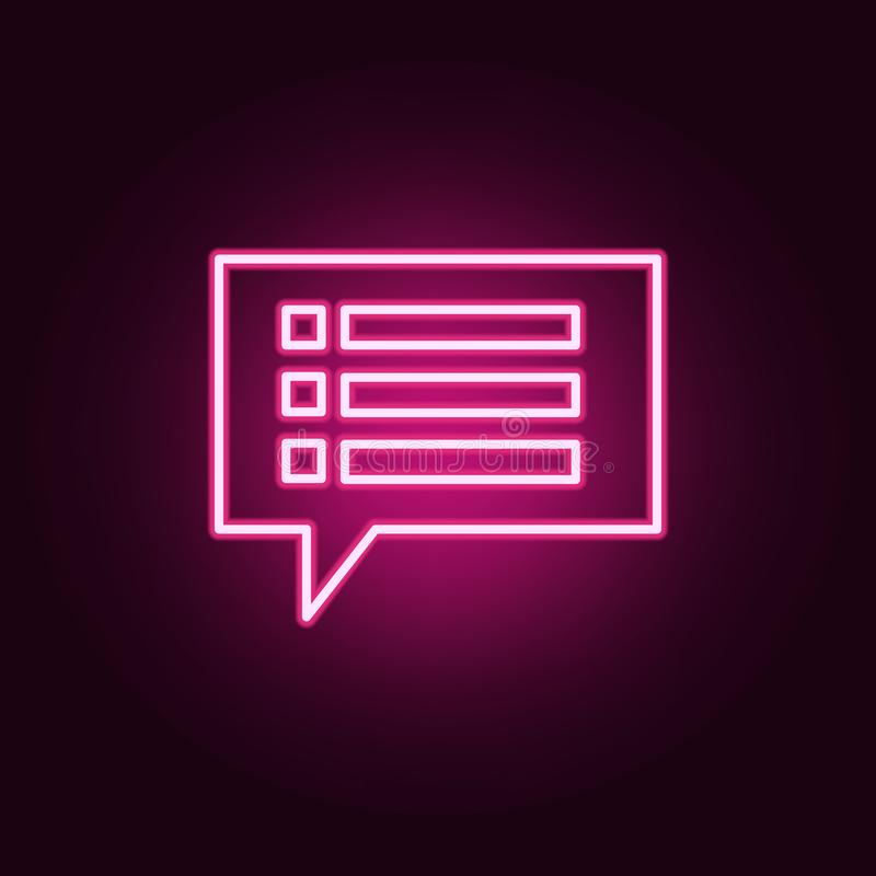 communication bubbles icon. Elements of Web in neon style icons. Simple icon for websites, web design, mobile app, info graphics vector illustration