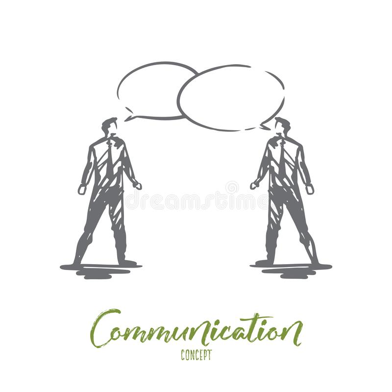 Communication, business, speech, chat, conversation concept. Hand drawn isolated vector. Communication, business, speech, chat, conversation concept. Hand drawn vector illustration