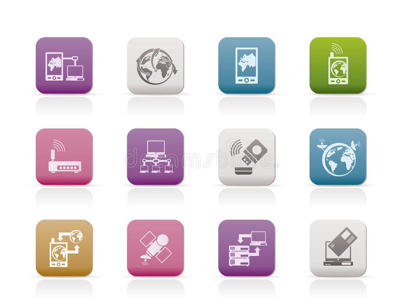 Download Communication, Computer And Mobile Phone Icons Stock Vector - Image: 15464600